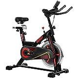ONETWOFIT Bicicleta Estática, Volante Inercia 15 kg, Bicicleta de ciclo silenciosa con transmisión...