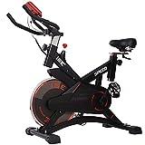 ISE Bicicleta Estática de Spinning Profesional con Sensor de Pulso,Ajustable Resistencia, Pantalla,...