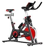 FITFIU BESP-100 - Bicicleta Indoor con disco inercia 16kg, resistencia regulable, sillín y manillar...