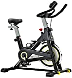 SOVNIA Bicicleta Estatica de Spinning profesional Bici Ejercicio con soporte para iPad, monitor LCD...