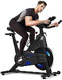 Dripex Bicicleta estática de resistencia magnética (nueva versión 2021), capacidad 330 libras,...