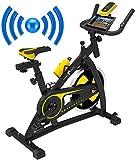 Nero Sport Bluetooth Bicicleta de Ejercicios Aeróbicos Spinning para Interiores Bicicleta Estática...