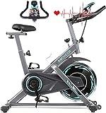 ANCHHER Bicicleta de Spinning Bicicleta Indoor de Volante de Inercia de 18kg Conecto con App...