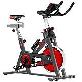 Fitfiu Fitness BESP-22 - Bicicleta indoor ergonómica con disco de inercia de 24 kg y resistencia...