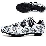 Zapatillas Bicicleta, Calzado de Bicicleta de Carretera para Hombre,Zapatillas de Ciclismo Mujer...