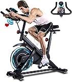 ANCHEER Bicicleta de Spinning Bicicleta Indoor de Volante de Inercia de 18kg Conecto con App...