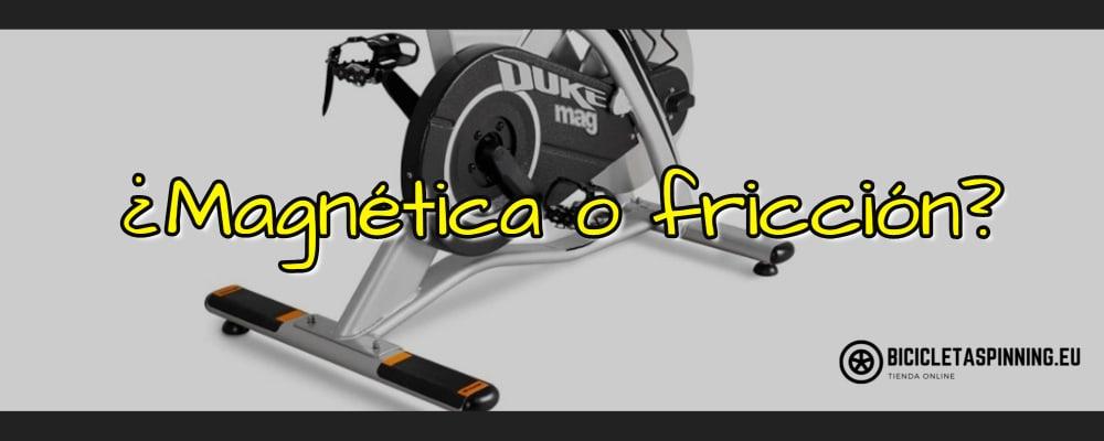 bicicleta con freno magnético o fricción